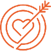 Icon of a heart and arrow