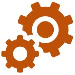 Illustration of two cogs