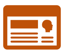 Illustration of a person's profile page